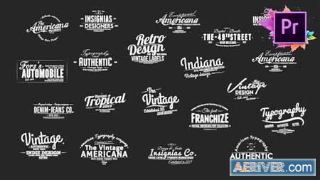 Videohive Vintage Typography Pack 26 Animated Badges Mogrt