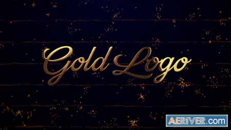 Videohive Gold Logo Reveal (Particles Opener) 23329933 Free