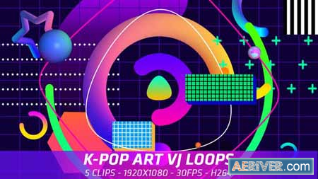 Videohive K-Pop Art VJ Loops 21996369 Free