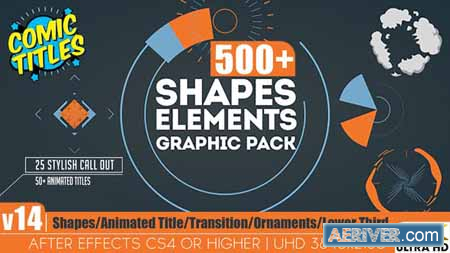 Videohive Shapes & Elements Graphic Pack v14 12002012 Free