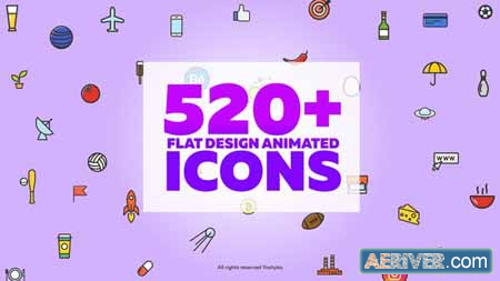 Videohive Vector Animated Icons 19161043 Free