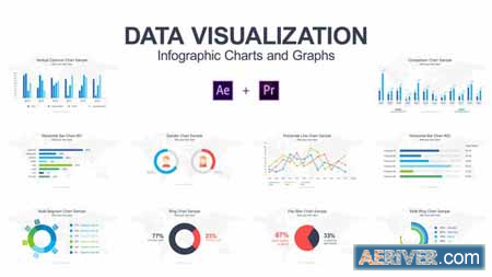 Videohive Data Visualization Infographic Charts and Graphs 21788304 Free