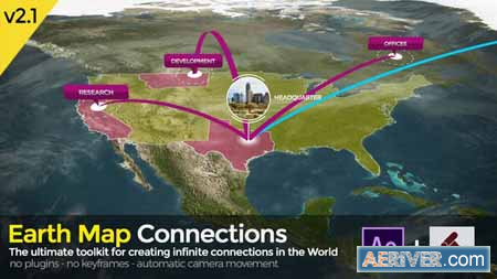 Videohive Earth Map Connections V2 1 20521238 Free
