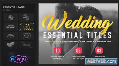 Videohive Essential Wedding Titles MOGRT for Premiere