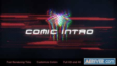 Videohive Glitch Comic Intro 23721089 Free