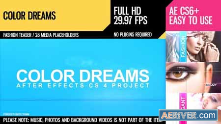 VideoHive Color Dreams (Fashion Slideshow) 2985445 Free