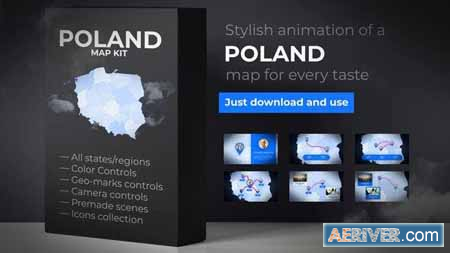 VideoHive Poland Map - Republic of Poland Map Kit 24164858 Free