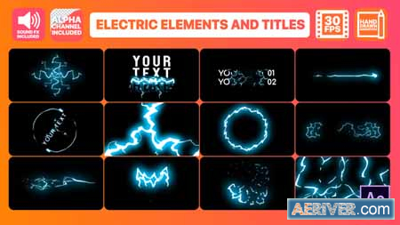 Videohive Cartoon Electricity And Titles After Effects
