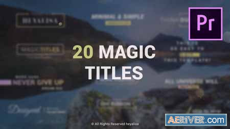 Videohive Essential Minimal Simple Titles Pack for Premiere