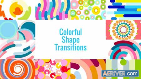 VideoHive Colorful Shape Transitions AE 23432459 Free