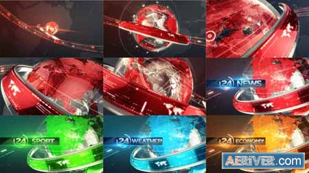 Videohive 24 Broadcast News Opener Pack 19344528 Free