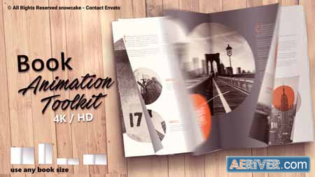 Videohive Book Animation Toolkit 21751656 (Update 29 May 19) Free
