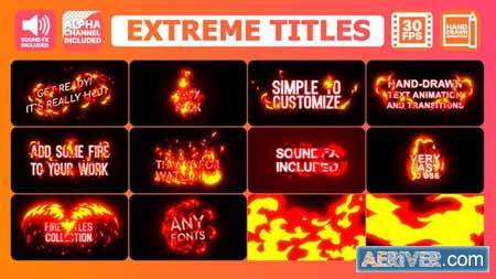 Videohive Extreme Titles After Effects 24329148 Free