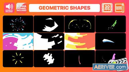 Videohive Geometric Shapes Final Cut Pro 24303921 Free