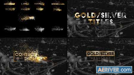 Videohive Golden Titles for Premiere Pro & After Effects