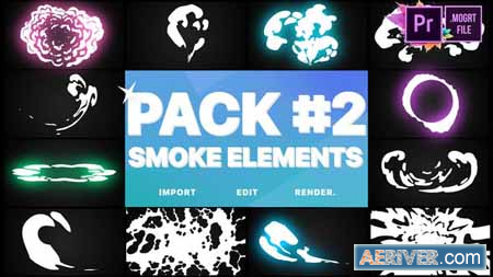 Videohive Smoke Elements Pack 02 Premiere Pro MOGRT 24495557