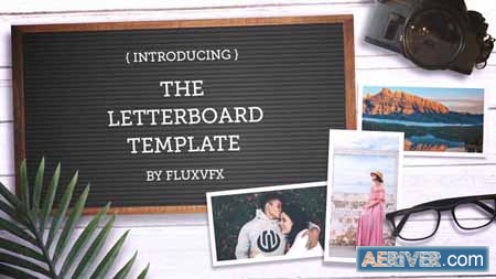 Videohive Letter Board Flat Lay Kit 22993376 Free