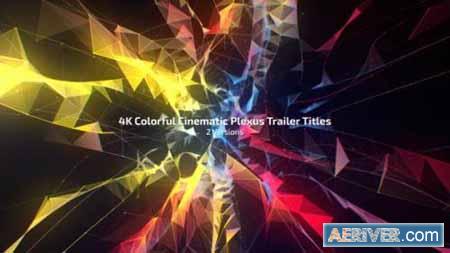Videohive 4K Colorful Cinematic Plexus Trailer Titles (2