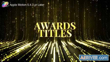 Videohive Awards Titles Apple Motion 24535693 Free