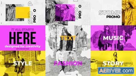 Videohive Stomp Promo Fashion Intro 22593863 Free