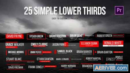 Videohive Simple Lower Thirds for Premiere 21754042 Free