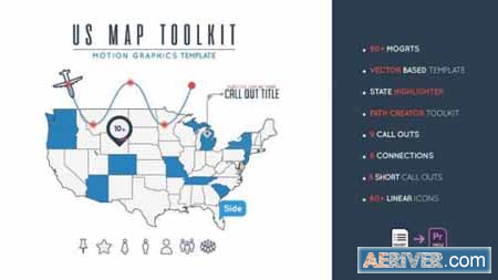 Videohive Us Map Toolkit 23670313 Free