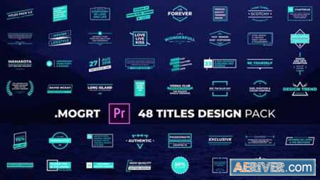 Download Videohive Titles Design Pack 29809059 Free