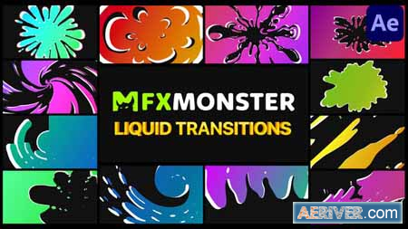 Videohive Liquid Transitions – After Effects 30545710 Free