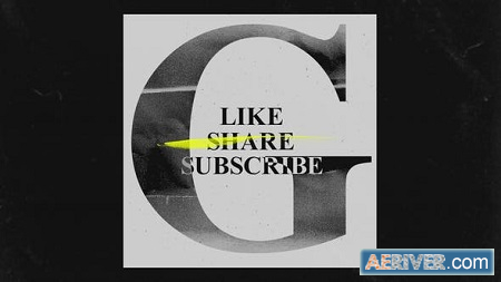 Videohive You Tube Like Share Subscribes Grunge Opener 30298574 Free