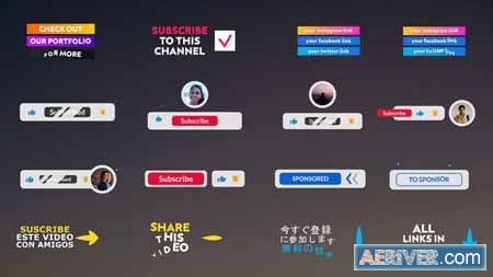 Videohive Youtube Lower Thirds And Buttons – After Effects 30429427 Free