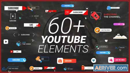Videohive YouTube Buttons Subscribe Pack 31404809 Free